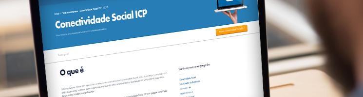Acessando o site da Conectividade Social em um notebook | Quando a empresa é obrigada a acessar a Conectividade Social com o certificado digital?