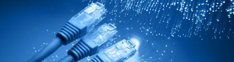 Imagem em fundo azul com quatro cabos de internet sendo molhados | Por que o certificado digital te protege de fraudes na internet?