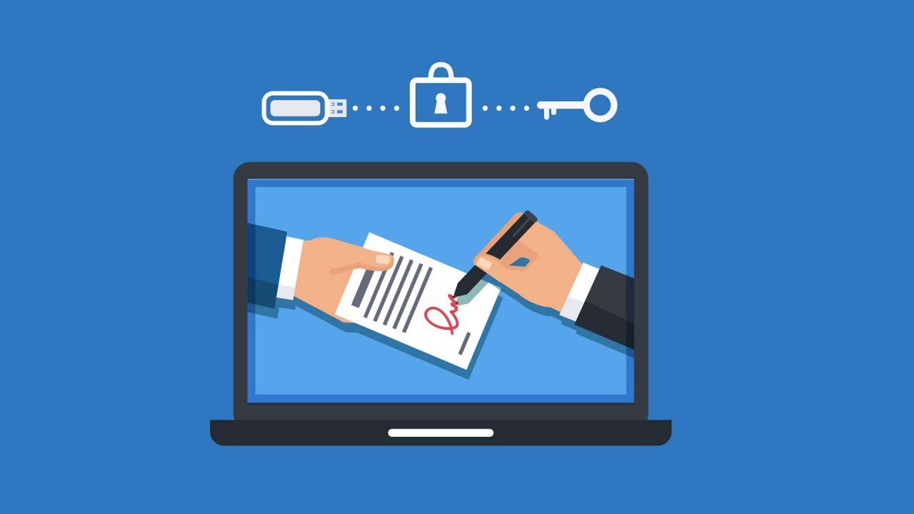 Assinatura digital dentro de um notebook | Qual a relação entre a certificação digital e o imposto de renda?